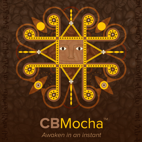 CBMocha CBD Coffee label